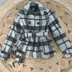 Jackets & Blazers - American Outfitters Plaid Coat Small Petite